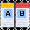 Ab Testing Ab Experiment Ab Examination Icon