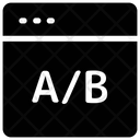 A/b testing web Icon