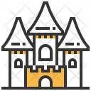 Abandoned Castle Building Icon