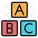Abc Block Kid And Baby Toy Blocks Icon