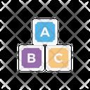Abc Block Education Icon
