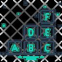 Abc Block Alphabet Blocking Icon