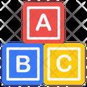 Abc Blocks Abc Learning Basic Education Icon