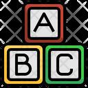 Abc Blocks Toys Kid Icon