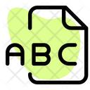 Abc File Audio File Audio Format Icon
