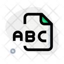 Abc File Icon
