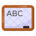 Primary Lesson Abc Learning Basic Education Icon