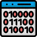 Abi Programming Application Binary Interface Binary Code Interface Icon