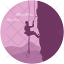 Abseiling Climbing Escalation Icon