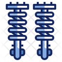 Shock Absorber Suspension Icon