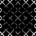 Abstract Decorative Snowflake Icon