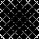 Abstract Snowflake Geometric Snowflake Snowflake Design Icon