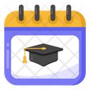 School Calendar Academic Calendar Education Calendar Icon