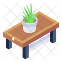 Table Pot Accent Table Tabletop Icon