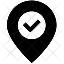 Accept Checkmark Location Icon