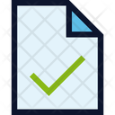 File Document Tick Icon