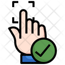 Accepted Fingerprint Scan Icon