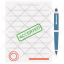 Accepted Paper Approved Paper Confirmed Document Icon