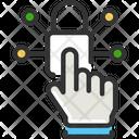Access Controlv Access Control Finger Lock Icon