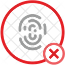 Cancel Stop Biometry Denied Access Icon