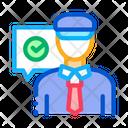 Access Policeman Security Icon
