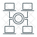 Accesses Network Web Icon