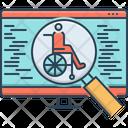Accessibility Optimization Search Icon