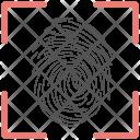 Fingerprint Scanner Identification Icon