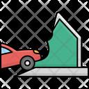 Accident Of Car Autonomous Car Icon