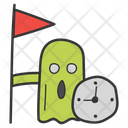 Deadline Achievement Business Conquer Target Completed Icon