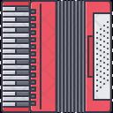 Accordion Music Instrument Icon