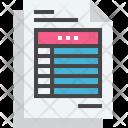 Account Data Document Icon