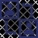 Account Employee Exchange Employee Transfer Icon