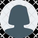Female Account User Icon