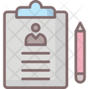 Account Business Clipboard Icon