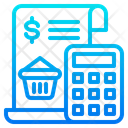Bill Calculator Busket Icon