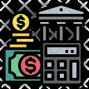 Calculator Money Bank Icon