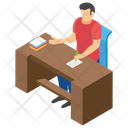Account Office University Office Clerical Room Icon
