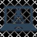 Laptop Account Login Icon
