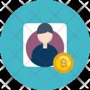 Account Verification Bitcoin Icon