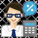 Accountant Actuary Broker Icon