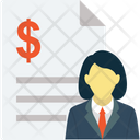 Accountant Bookkeeper Cashier Icon