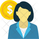 Investor Banker Businesswoman Icon