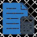 Accountant File Calculation Icon