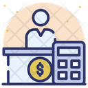 Accountant Auditor Cashier Icon