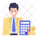 Bookkeeper Accountant Budgeting Icon