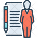 Auditor Accountant Bookkeeper Icon