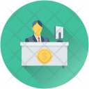 Accountant Businessman Office Icon