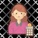 Accountant Female Icon