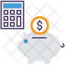 Accounting Piggy Bank Investment Icon